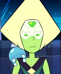 """A picture of Peridot in the episode """"Warp Tour""""."""